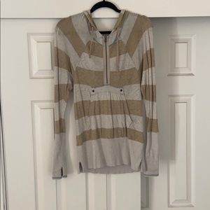 Free people striped hoodie. Size small